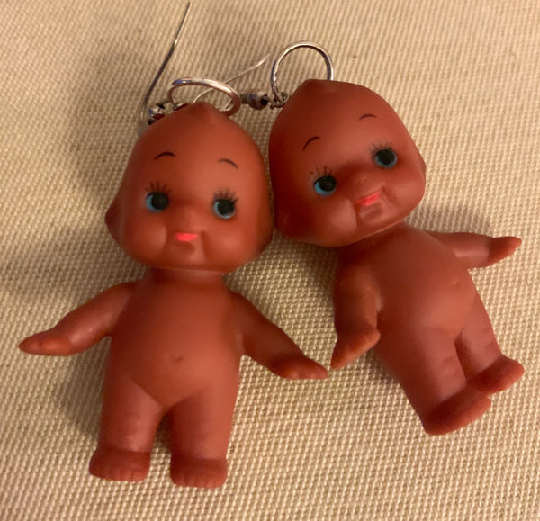 Kewpie Bush Baby earrings ©Holy Kitsch!