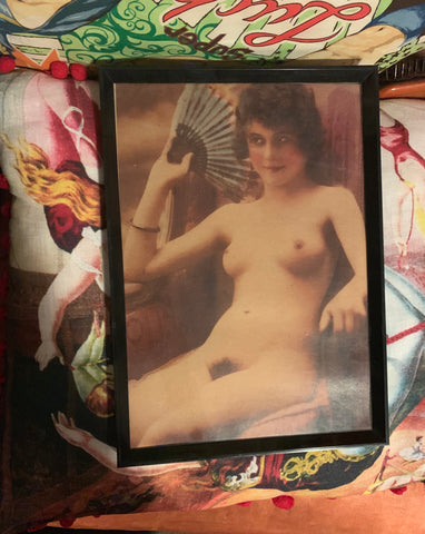 Fabo framed vintage Nude Day graphic