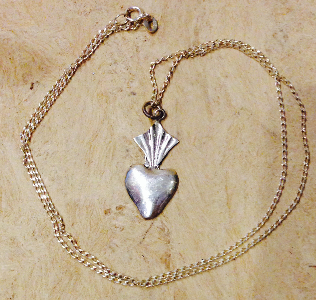 MEXICAN DIJE HEART STERLING SILVER