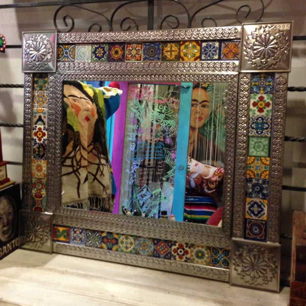 LARGE MULTI TILED MEXICAN MIRROR