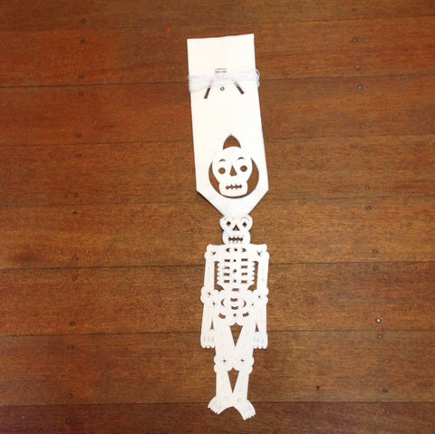 MEXICAN DAY OF DEAD SKELETON ARTIST CUT BUNTING.