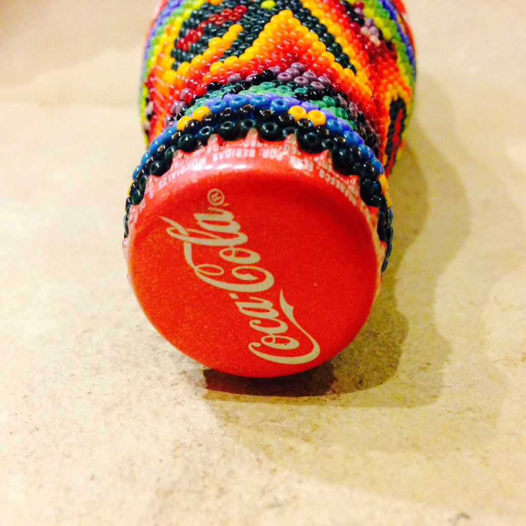 MEXICAN BEAD WORKED GENUINE COCA COLA BOTTLE