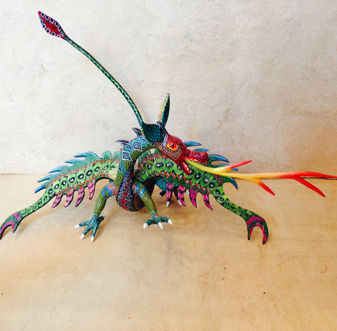 MEXICAN ARTIST WINGED DRAGON
