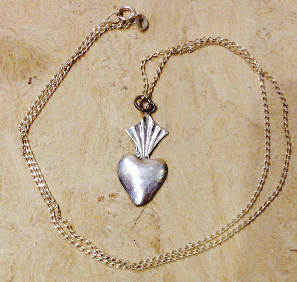 HAND CRAFTED SILVER MIRACLE HEART