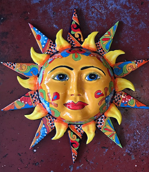 FIREY MEXICAN CERAMIC SUN