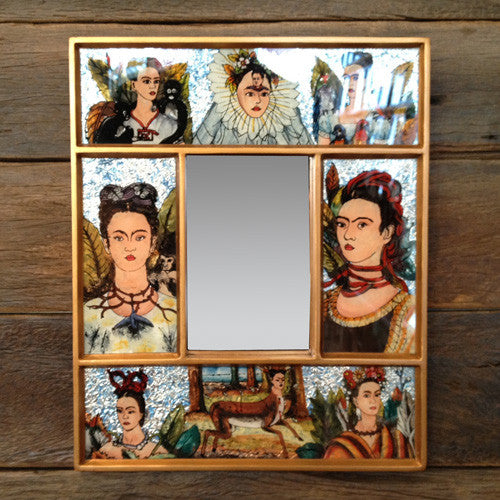WALL MIRROR FRIDA FOIL