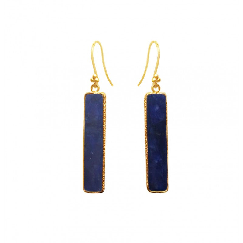 Rectangle Sapphire Earring