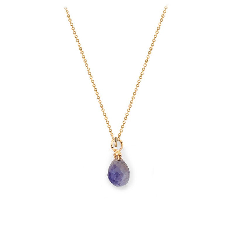 Iolite Tear Drop