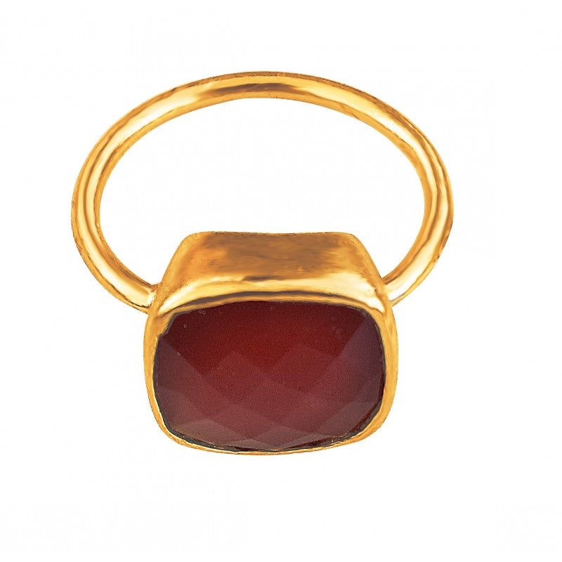 Cushion Cut Carnelian
