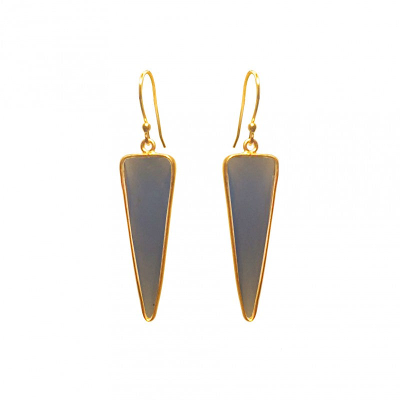 Triangle Amazonite Earring