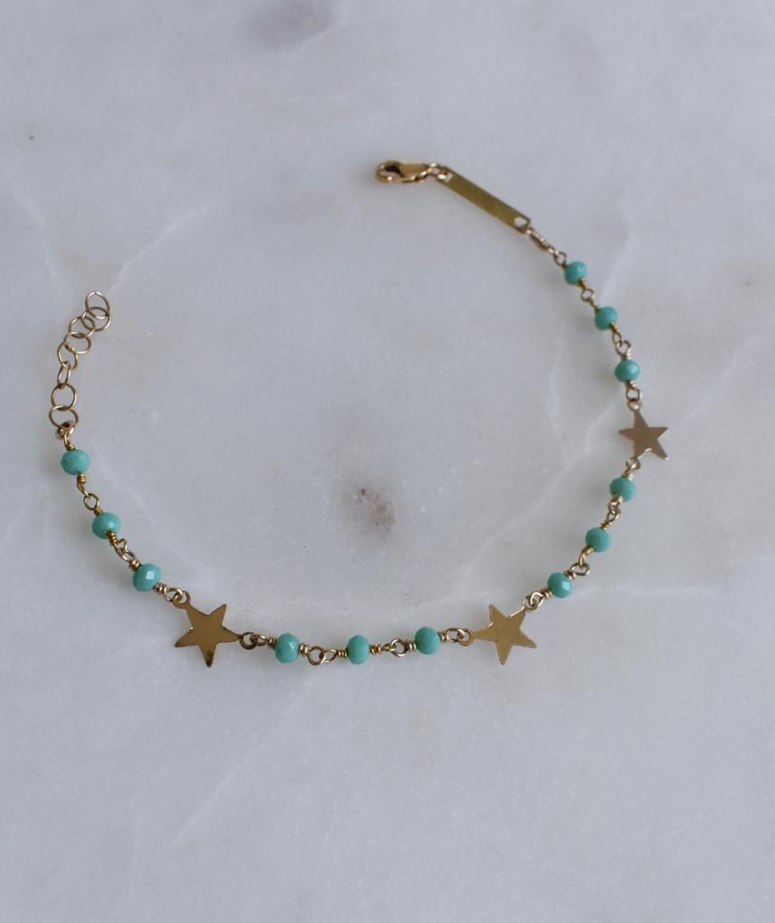 Amazonite Three Star Multi Wrap Bracelet