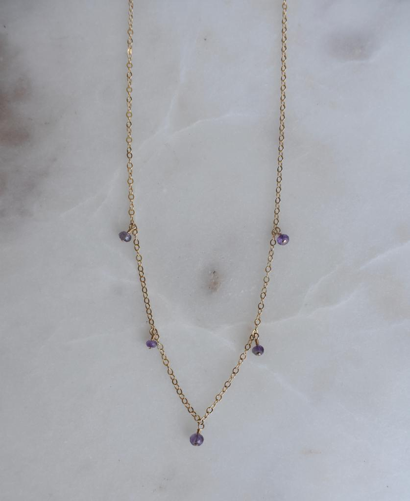 Five Amethyst Necklace