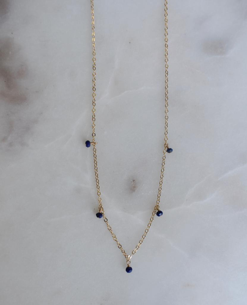 Five Lapis Necklace
