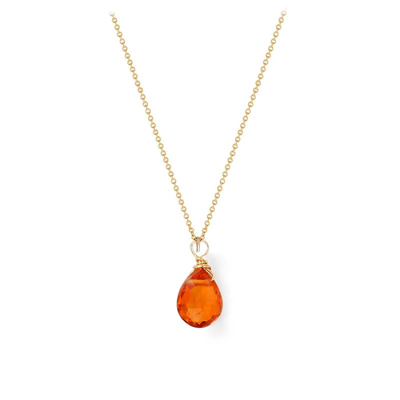 Mandarin Garnet Tear Drop