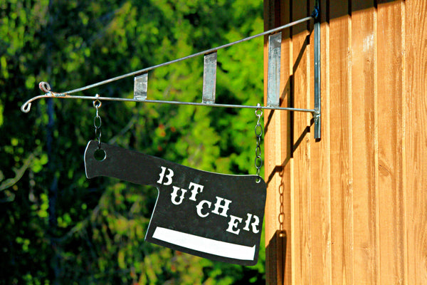 Butcher Sign with Bracket