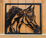 Arabian Horse Head Cutout in Frame