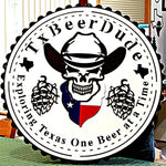Texas Beer Dude Logo Sign - DDR Fabrication