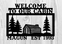 Family Cabin Sign