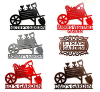 Custom Flower Garden Sign