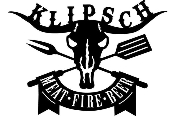 Custom Meat Fire Beer Klipsch