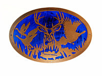 Deer Scene Oval Double Layer