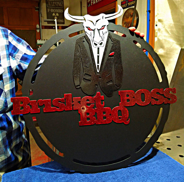 Brisket Boss BBQ Sign
