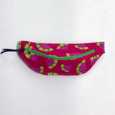 Fanny Pack in red Watermelon fabric.