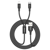 Cable 2 en 1 Rapid Series USB a lightning y Micro USB 1.2m