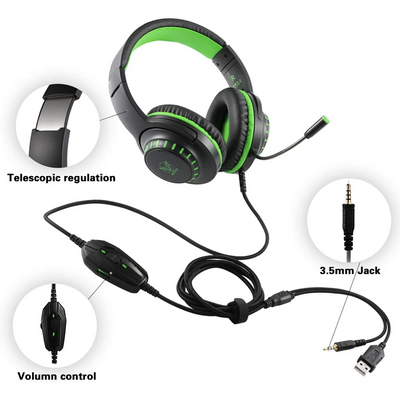 Auriculares Gaming Masacegon Pacrate H11 - Bestmart
