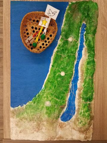 DIY Raised Surface Map of Israel
