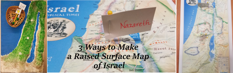Header 3 Ways to Make a Raised Surface Map of Israel