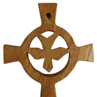 Small Holy Spirit Wood Cross