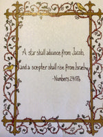 "Prayer Card Print (5""x7"" matted) - Isaiah, Numbers, or Micah"