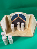 Multi-use House - Diorama with Removable Backdrop (Nativity, Parables, Empty Tomb)