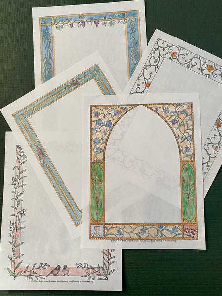Lovely Printed Stationery - Set of Five - Luminous Mysteries