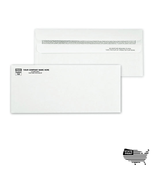 #10 Envelopes - Imprinted - Self Seal - Confidential Security Tint
