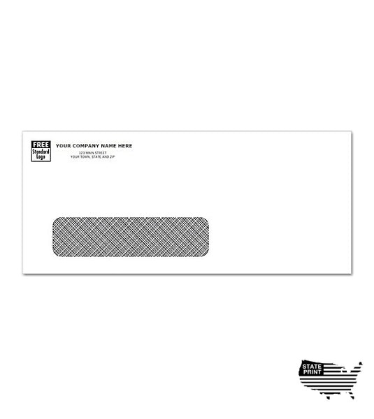 #10 Envelopes - Imprinted - Single Window - Confidential Security Tint