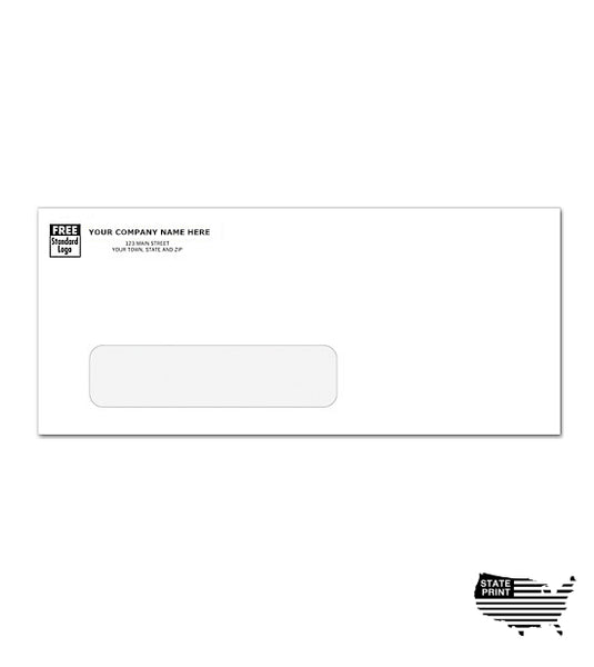 #10 Envelopes - Imprinted - Single Window