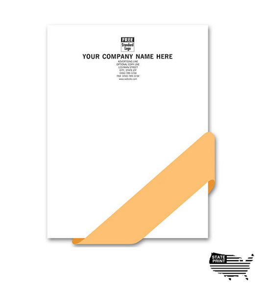 "Letterhead - Full Color - Natural White 80 lb Linen - 8 1/2"" x 11"""