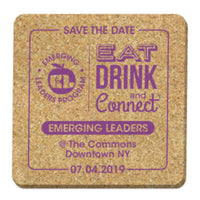 Coasters - Square - Natural Cork