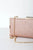 Gleam Come True Rose Gold Glitter Clutch