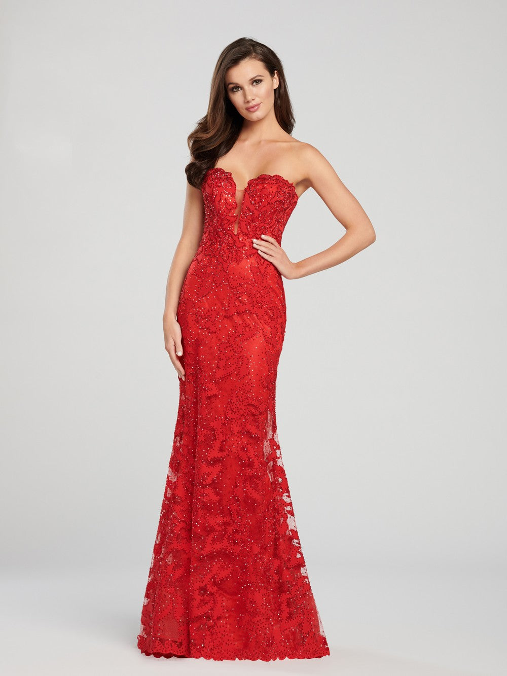 4f00ea83bc4 Ellie Wilde EW119022 Plunging Sweetheart Neck Prom Dress – Dashing ...