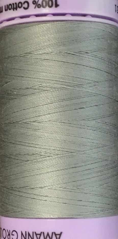 METTLER-  Silk Finish Cotton Thread, 500M (50 Weight) - Medium Grey - 0413
