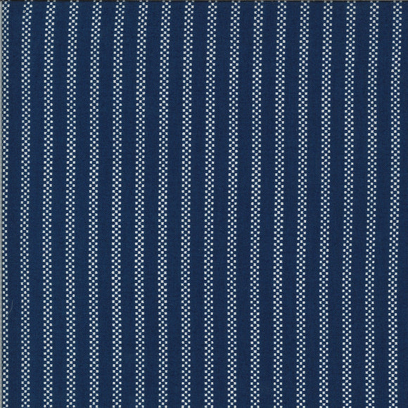 MODA -  Homestead - April Rosenthal - Midnight Pin Stripe