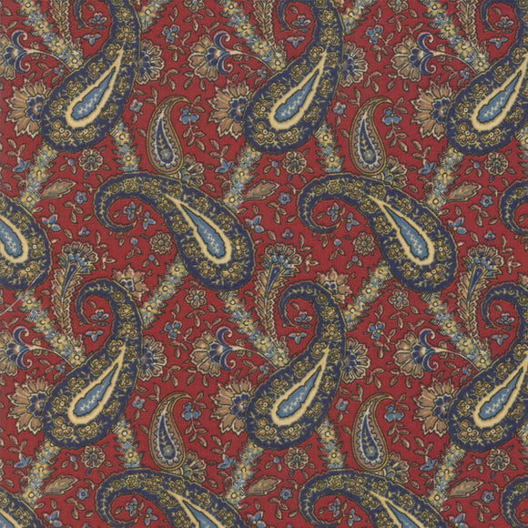 MODA - Nancy's Needle - Betsy Chutchian - Red and Blue Paisley