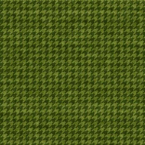 Henry Glass - Houndstooth Basics - Leanne Anderson - 8624-66 - Green