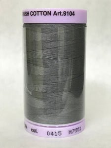 METTLER-  Silk Finish Cotton Thread, 500M (50 Weight) - Grey - 0415