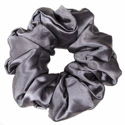 *BRAND NEW* Luxe Pure Silk Hair Scrunchie - Charcoal - Nice Cream London
