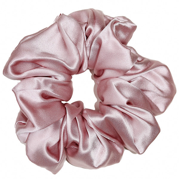 Luxe Pure Silk Hair Scrunchie - Blush - The Nice Cream Company