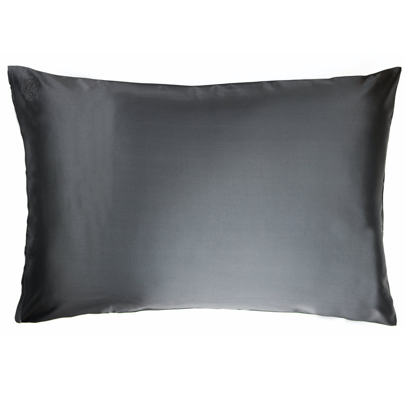 Privé Silk Pillowcase Slip - Charcoal - Nice Cream London